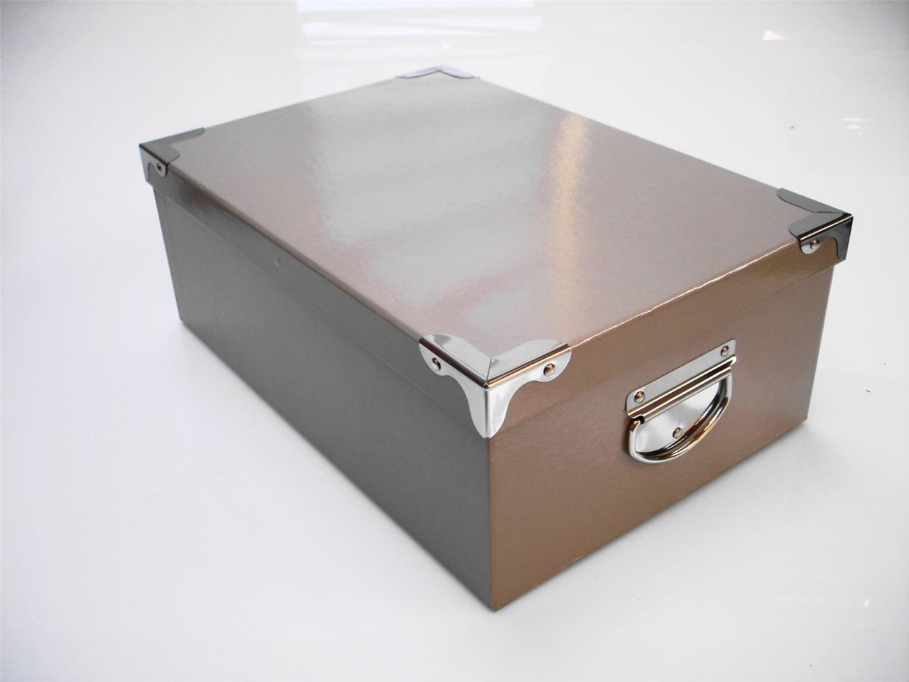 brown hard cardboard craft storage boxes christmas. Black Bedroom Furniture Sets. Home Design Ideas