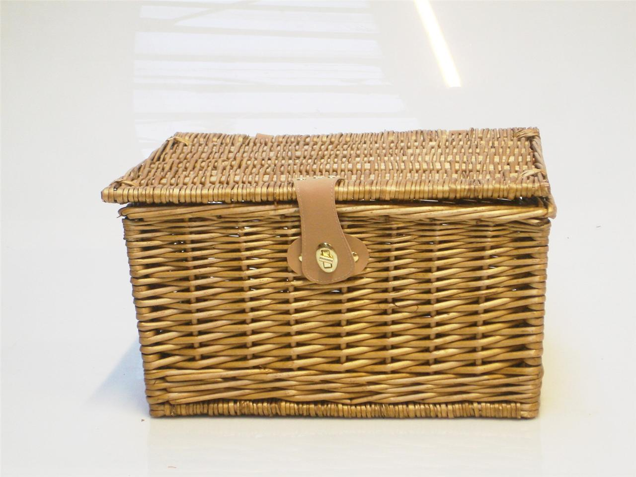 Empty Wicker Gift Baskets : Strong oak wicker picnic gift storage xmas christmas empty
