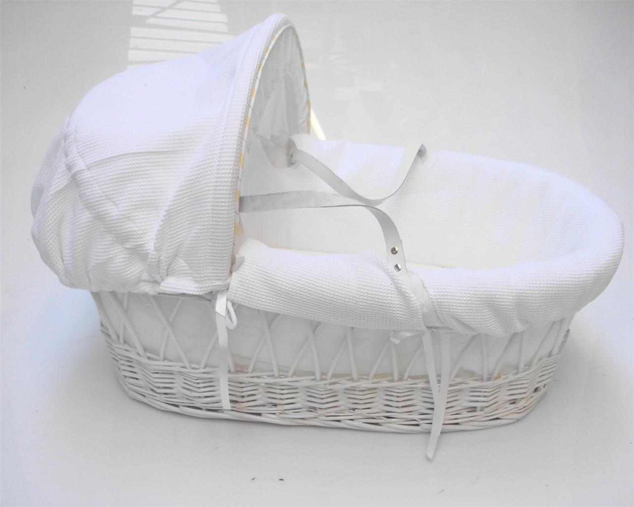 Strong Portable Travel Wicker New Baby Babies Bassinet Cot ...