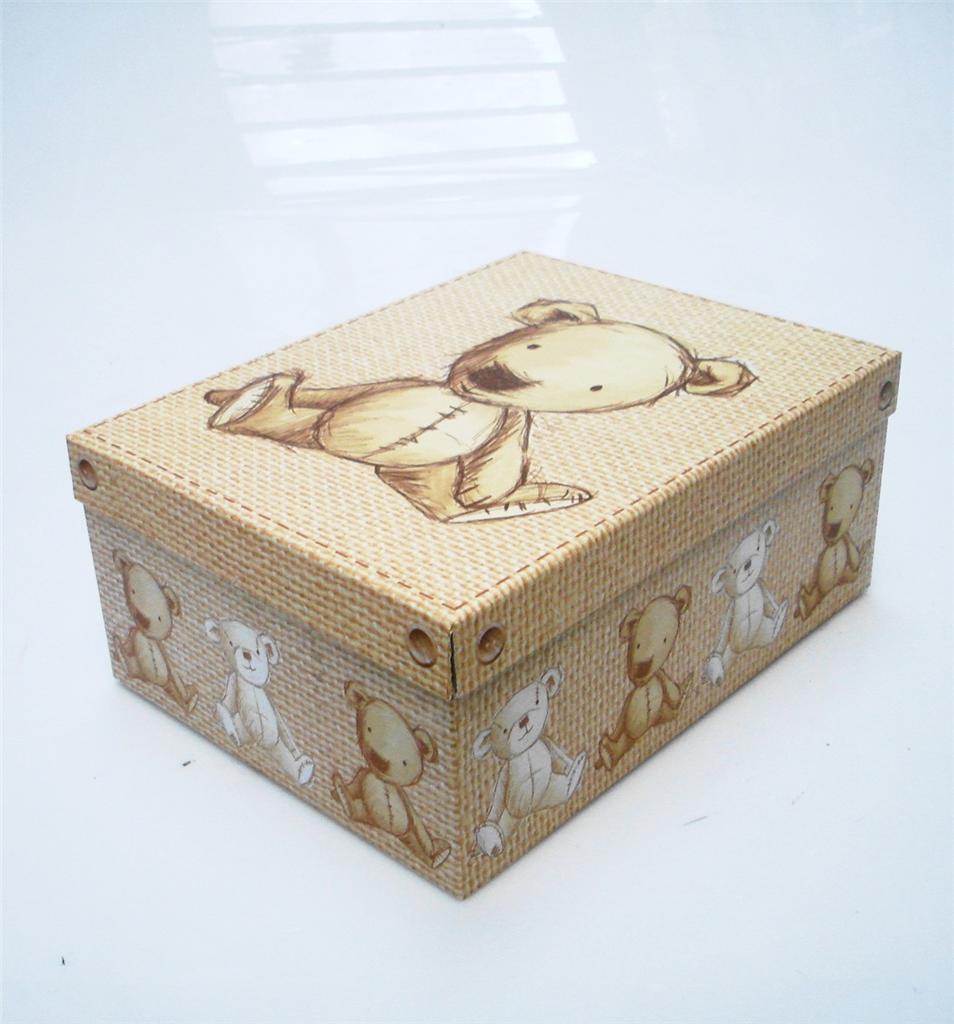 Teddy bear design hard cardboard a paper storage boxes