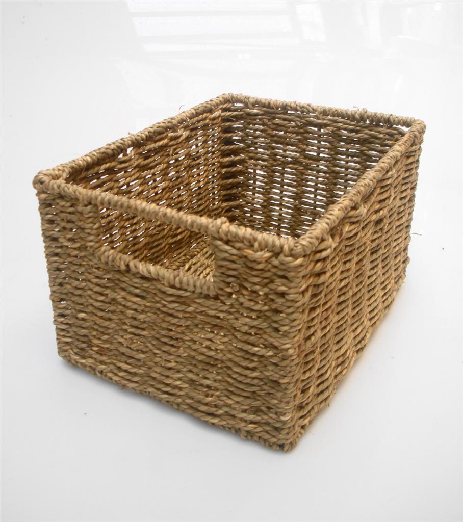 bargin strong seagrass wicker shelf draw storage baskets. Black Bedroom Furniture Sets. Home Design Ideas