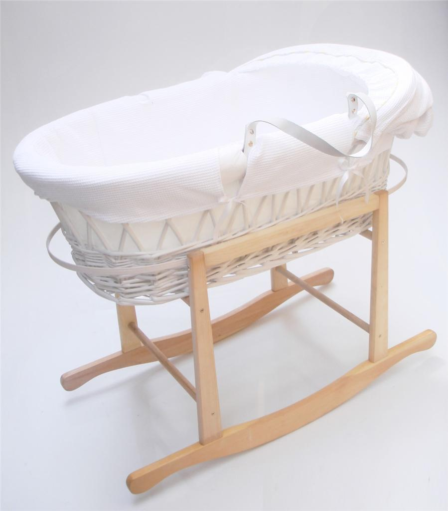 Strong portable travel wicker new baby babies bassinet cot for Portable bassinet
