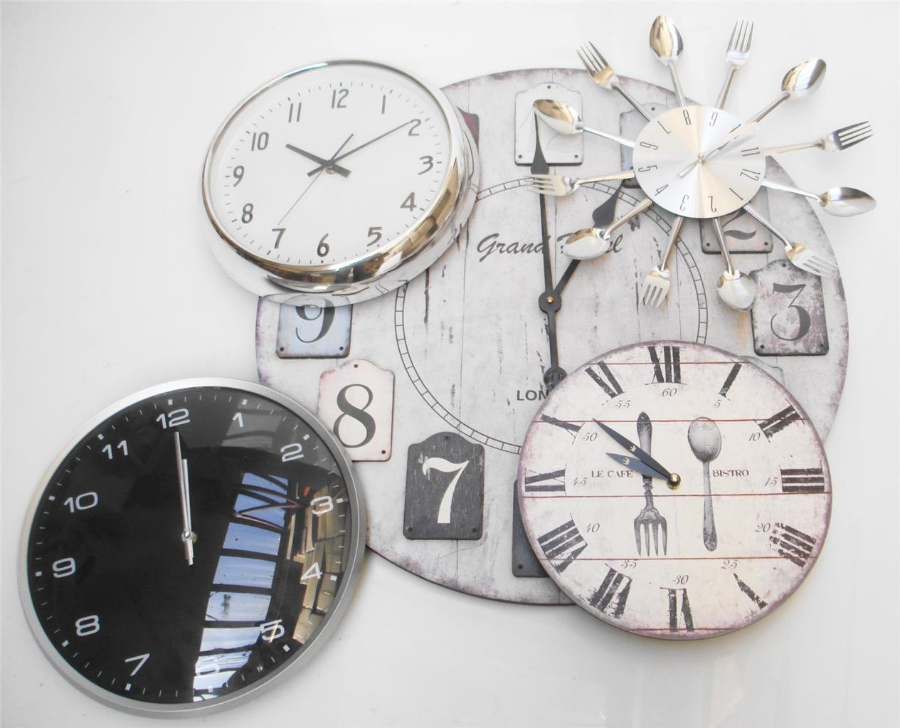 Clocks for bathroom wall - Bathroom Chrome Wall Clock