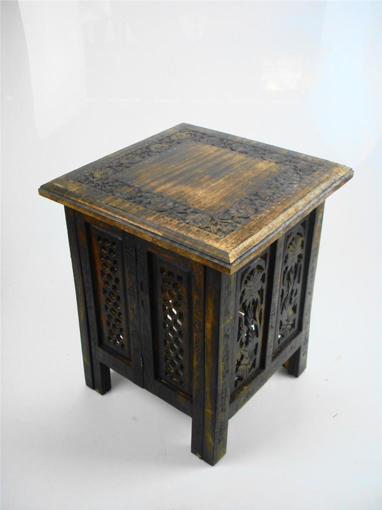 Beautiful brown or white hand carved indian wooden table for Indian coffee table