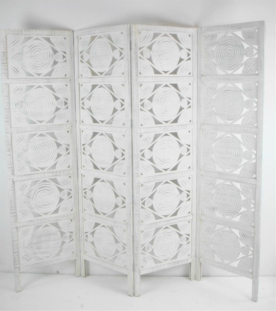 carved indian screen wooden swirl design screen room divider ebay
