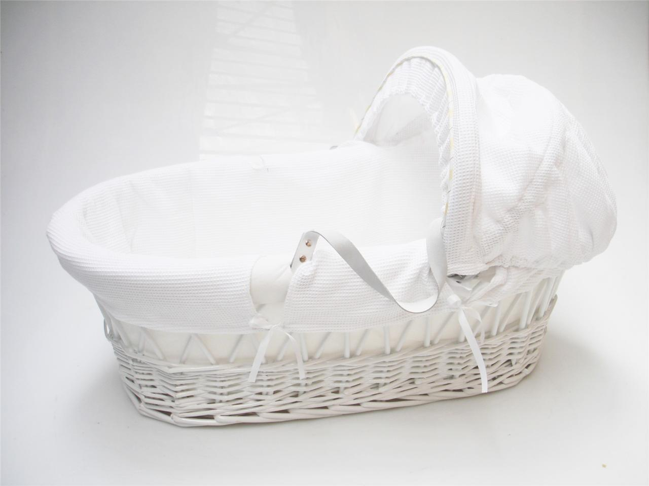 Wicker Basket Bassinet : Strong portable travel wicker new baby babies bassinet cot