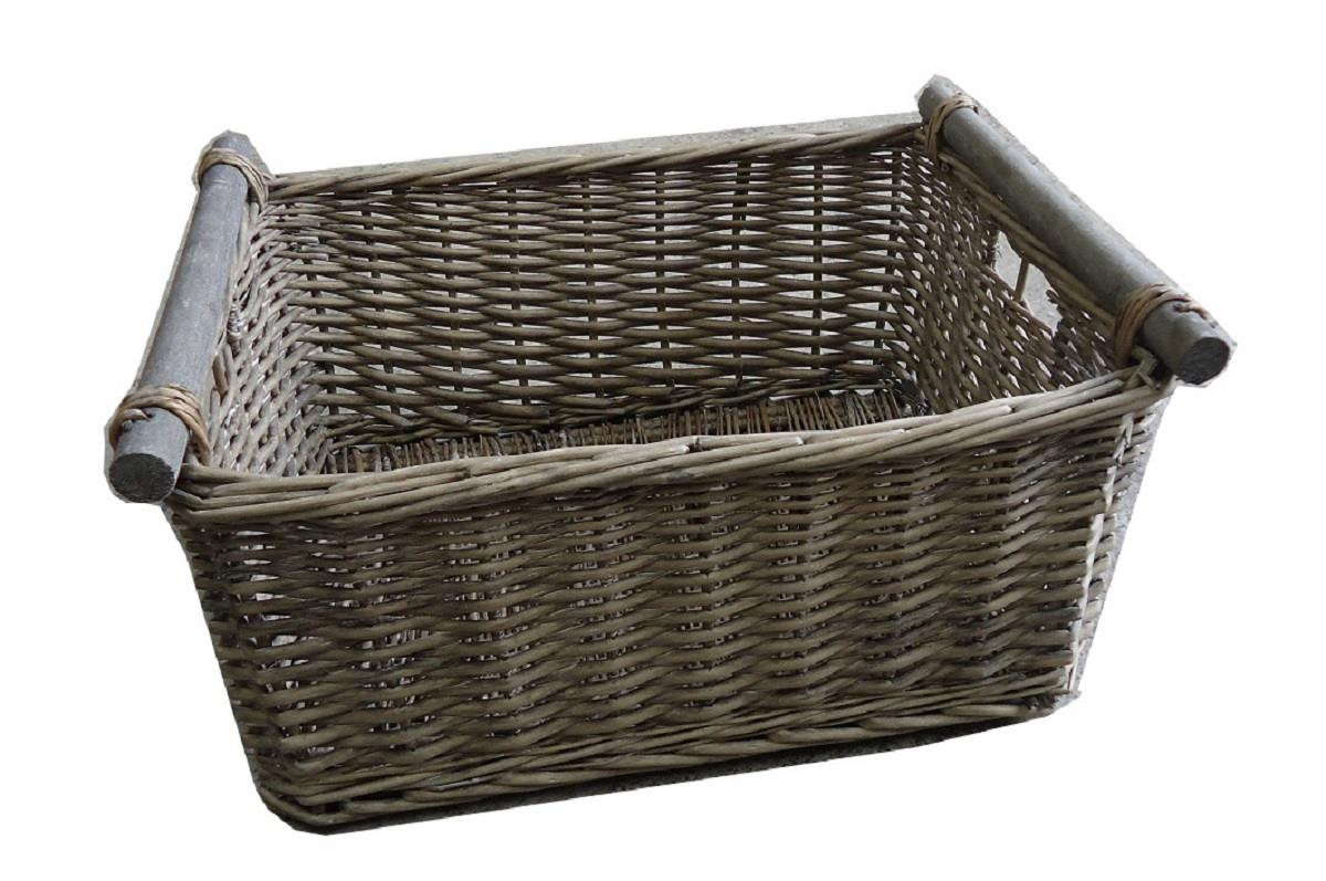 Empty Wicker Gift Baskets : Kitchen log decorative full wicker storage basket xmas