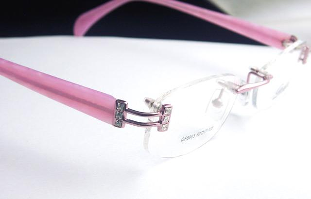 Pink Rimless Glasses : Crystal Eyeglass Frames LADIES Rimless OPTICAL Pink NEW eBay