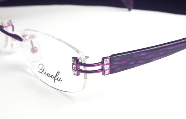 Crystal Eyeglass Frames LADIES Rimless OPTICAL Purple eBay