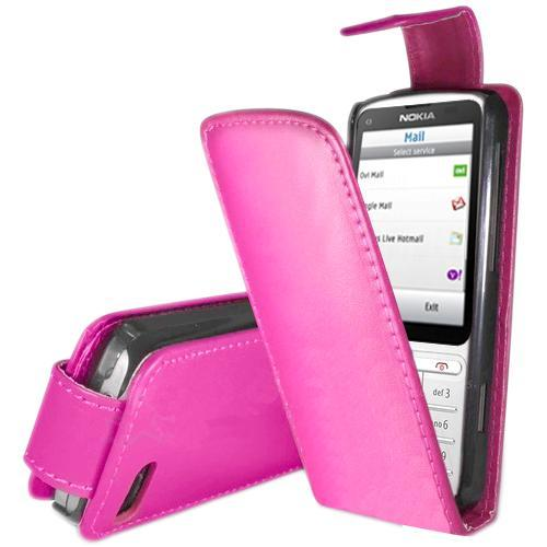 Stylish-PU-Leather-Magnetic-Flip-Case-Cover-For-Nokia-C3-01