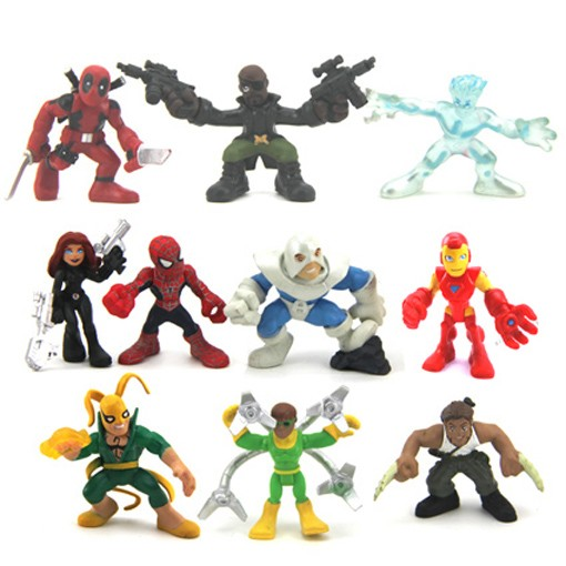 10-Marvel-Super-Hero-Squad-Nick-Fury-Deadpool-Iron-spider-man-Figure-Legends-N71