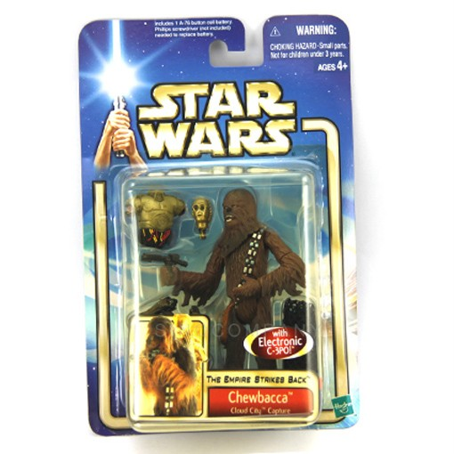 Star Wars Saga Collection Chewbacca Cloud City Capture with C-3PO Figure SX51