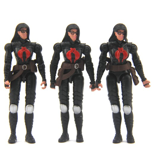 Lot-3-Pcs-GI-Joe-g-i-joe-Cobra-BARONESS-Valor-Vs-Venom-2004-action-figure-FK139