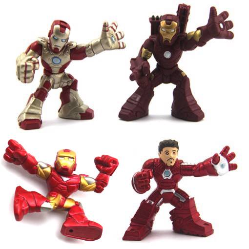 Lot4-Marvel-Super-Hero-Squad-Iron-man-3-mark-42-war-machines-Action-Figure-Fk284