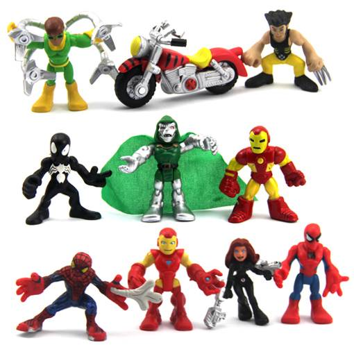 Lot-10-Marvel-Super-Hero-Squad-Iron-Man-X-men-Spider-man-Figure-xmas-gifts-N880