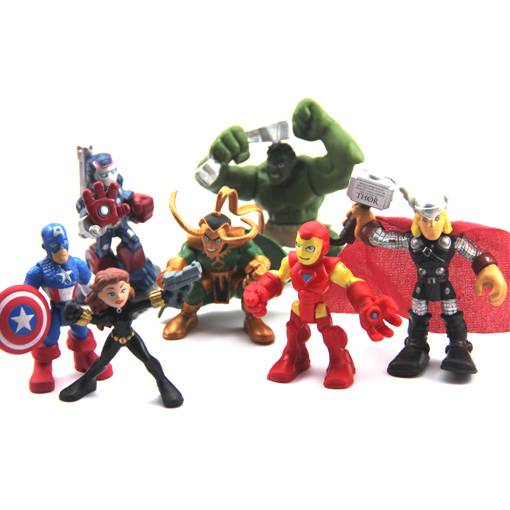 Lot-7-The-Avengers-Marvel-Super-heroes-SquadDHulk-Thor-Iron-Man-LOKI-Figure-N215