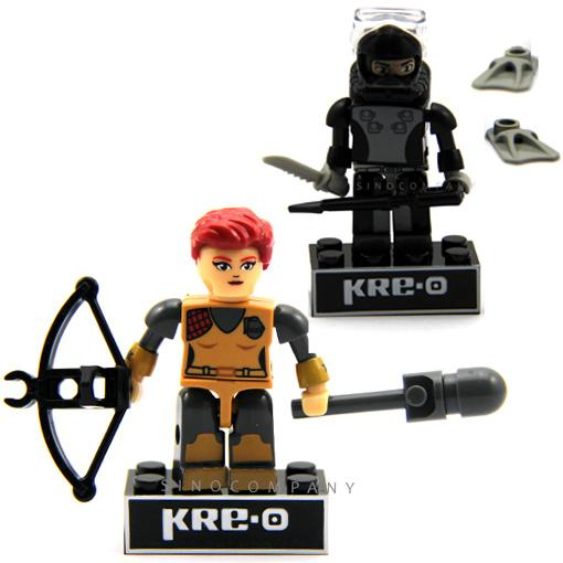KRE-O-G-I-Joe-gi-joe-Scarlett-And-Torpedo-figure-Wave-1-Kreon-Rare-New-FK349