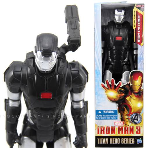 Marvel-Titan-Hero-Black-IRON-MAN-3-PATRIOT-The-Avengers-12-Figure-1-6-FY166