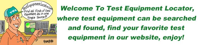 Test equipment locator