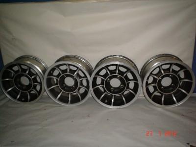 Roadster 510 240Z 280Z 14 x 6 4 on 4.5 Turbine Style Wheels Set of 4