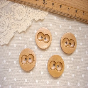 4 owl eyes decorative natural wooden buttons craft sewing for Decorative buttons for crafts