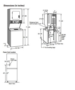 Washer and dryers dimensions of washer and dryer for Washer dryer closet dimensions