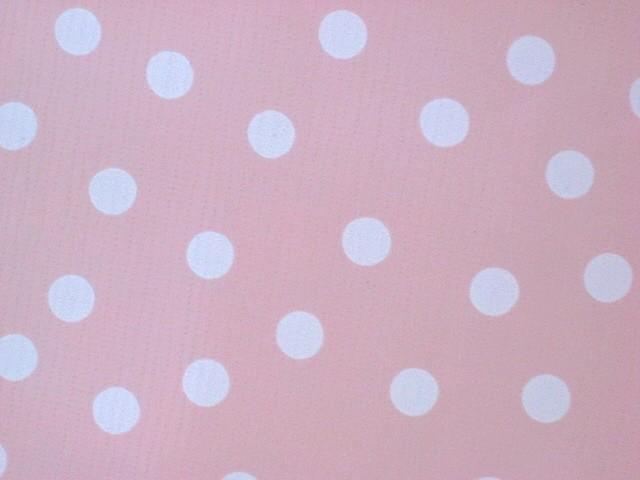 Pink white polka dots oilcloth vinyl tablecloth 48x48 ebay for Black polka dot tablecloth