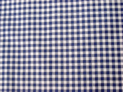 Navy Blue Gingham Check Country Kitchen Dining Oilcloth