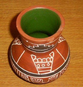 Signed Leopoldo de Mexico Native Indian Vase Pottery Latin America