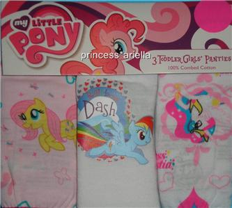 New 3 Pair Girls 2 3T My Little Pony Knickers Panties Underwear Briefs