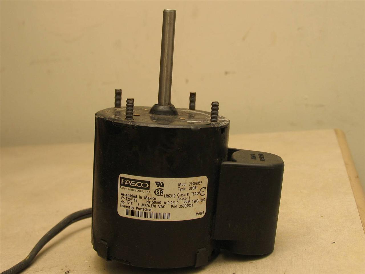 Fasco u90b1 refrigeration fan motor 71902857 1 15hp 1300 for Fasco evaporator fan motor