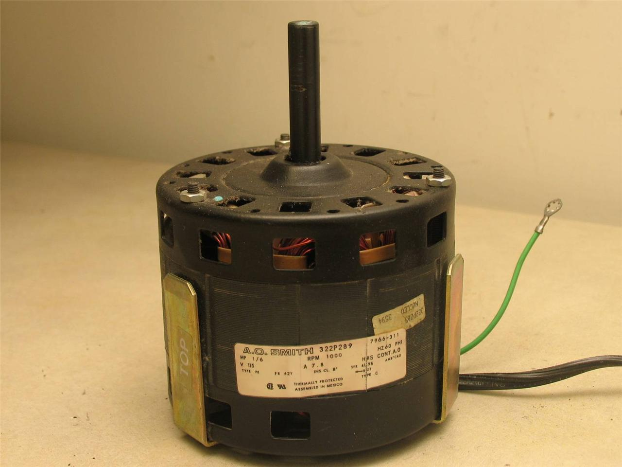 A-O-Smith-7966-311-Furnace-Blower-motor-322P289-1-6HP-1000RPM-1PH-60Hz