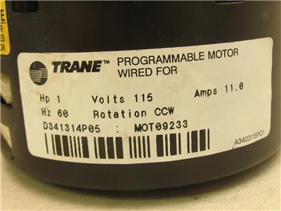 Ge Ecm Motor 5sme39sl0301 Programmable Blower Motor 1hp 120 240v 1050rpm 1ph Ebay