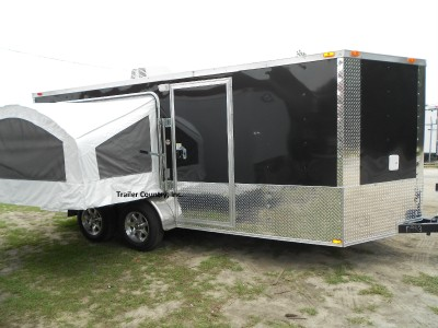 7x16 7 x 16 sport enclosed cargo trailer w pop out bed ebay for Enclosed bed frame