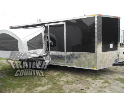New 2017 7x16 7 x 16 v nosed enclosed trailer pop up pop for Enclosed bed frame