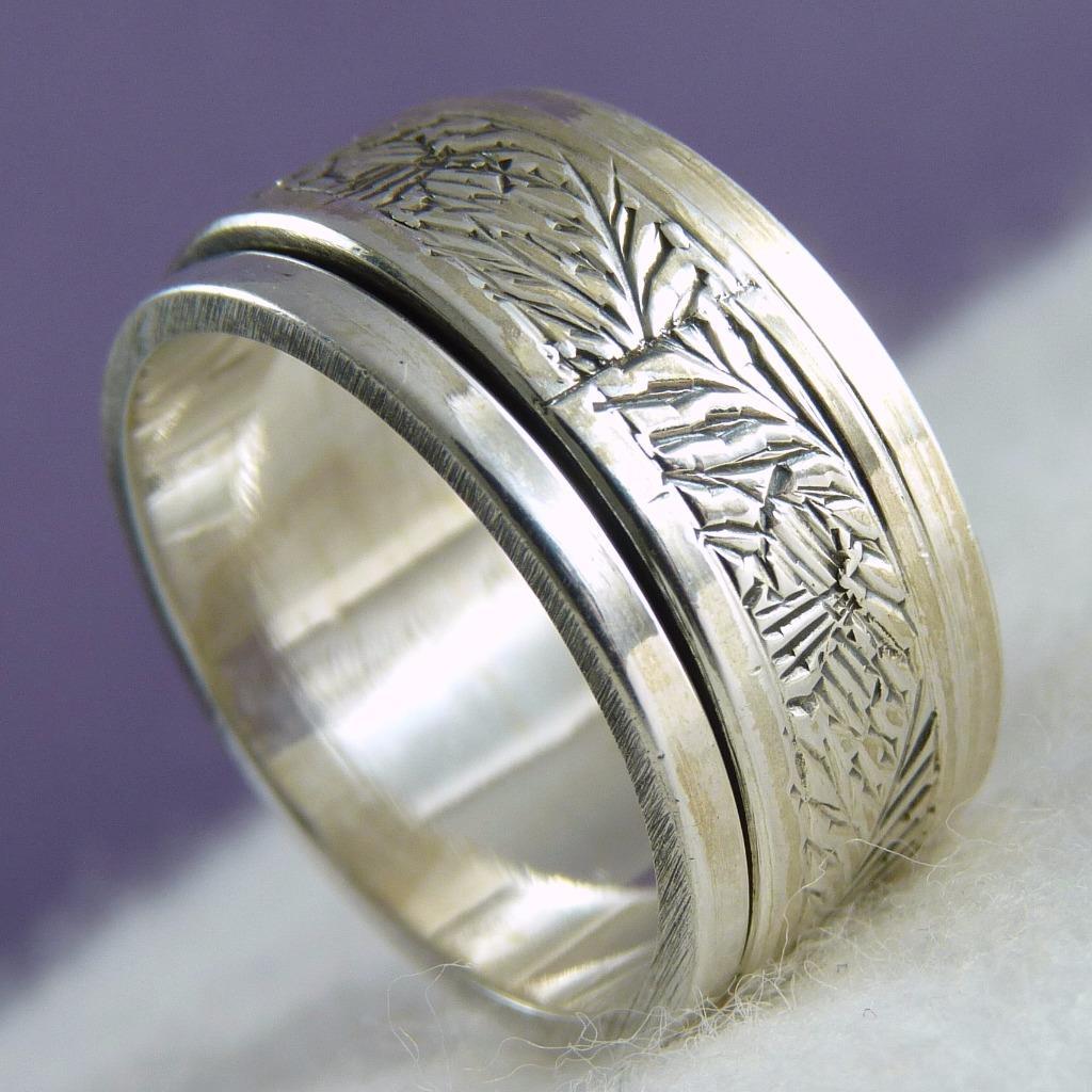 us 10 1 4 carving spinner silversari meditation ring