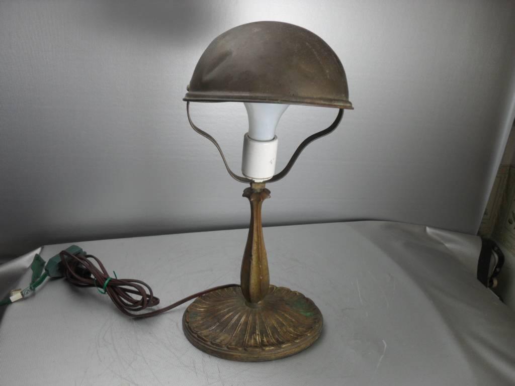 Vintage Antique Art Nouveau Brass Table Desk Lamp