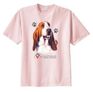 I-Love-My-Basset-Hound-Dog-T-Shirt-S-6x-Choose-Color