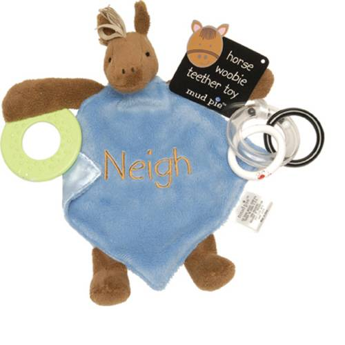 Baby Gifts Western Australia : Mud pie eieio western horse baby blanket teether rattle
