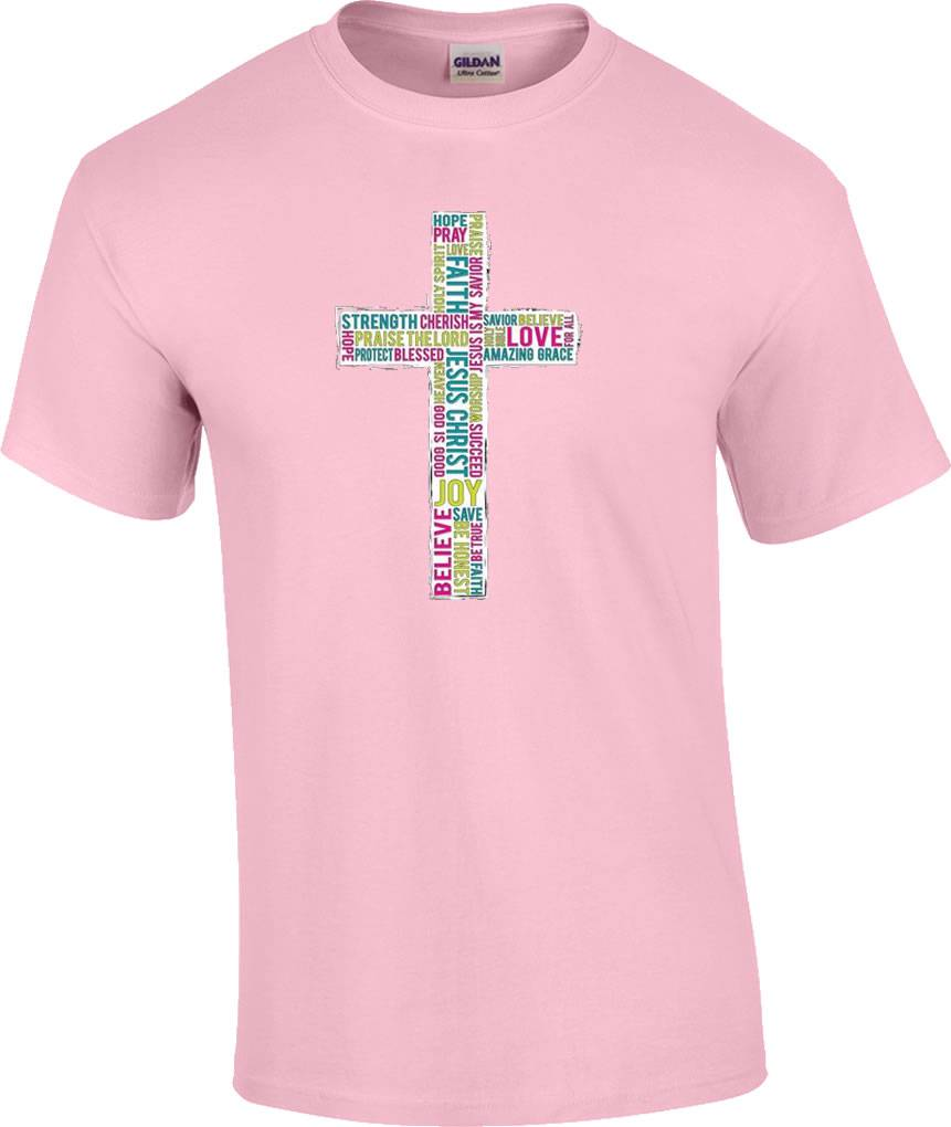 Christian Word Cross Believe Hope Pray Faith Joy Strength Jesus ...