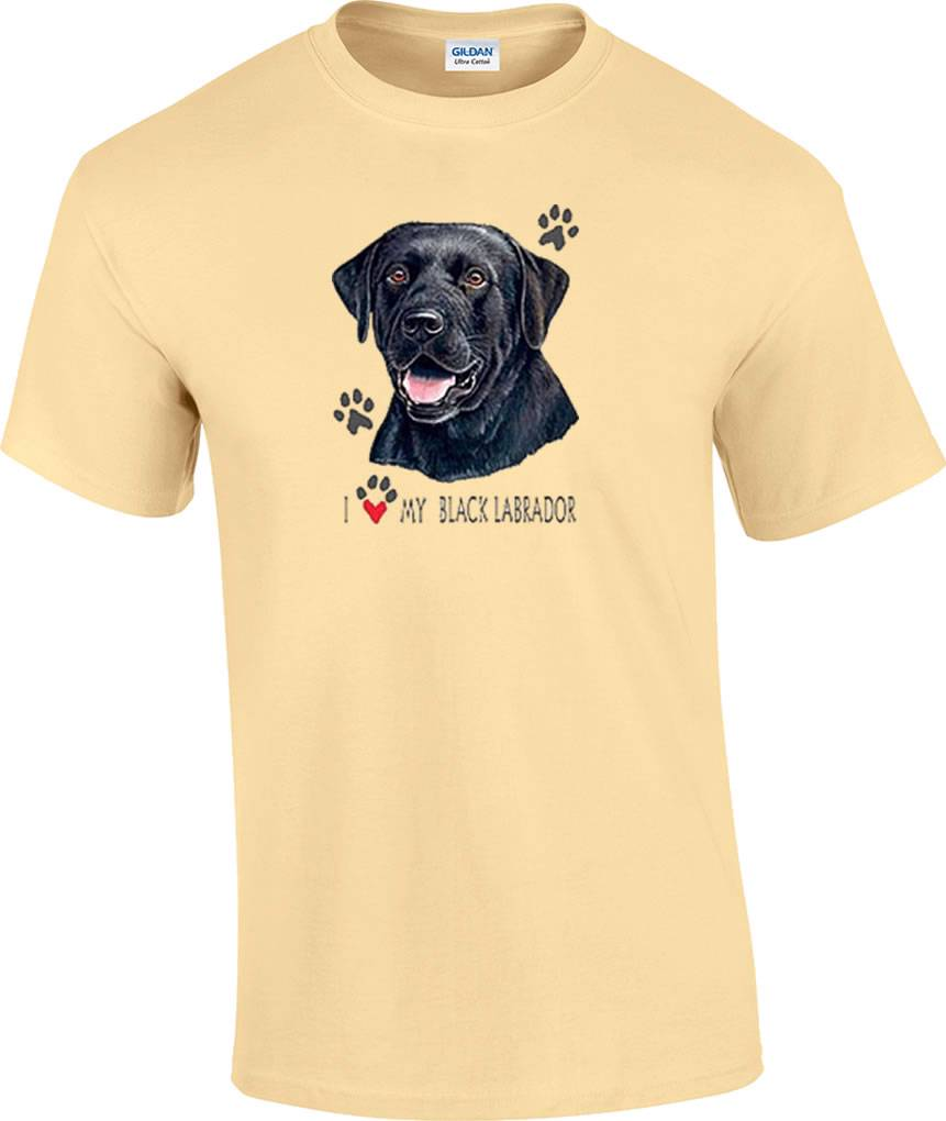I Love My Black Lab Labrador Dog T Shirt Ebay