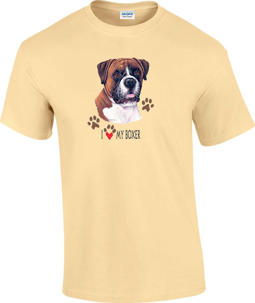 I love my boxer dog t shirt ebay for Dog t shirt for after surgery