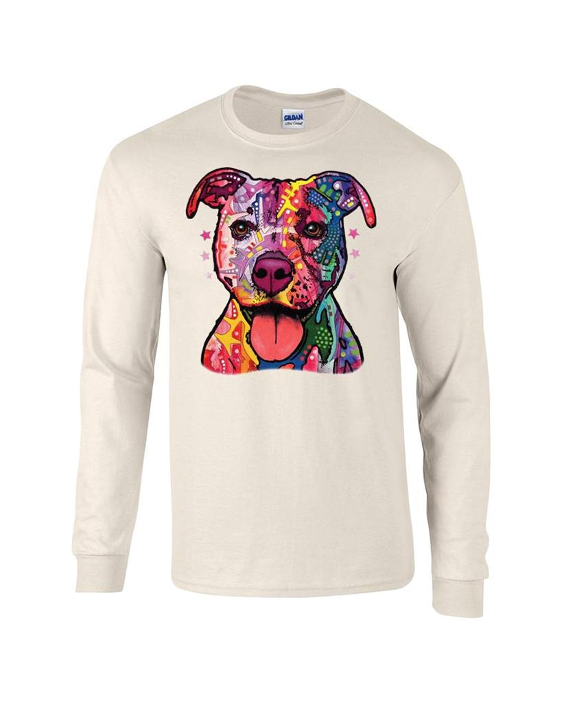 pastel pitbull dog long sleeve t shirt tee ebay