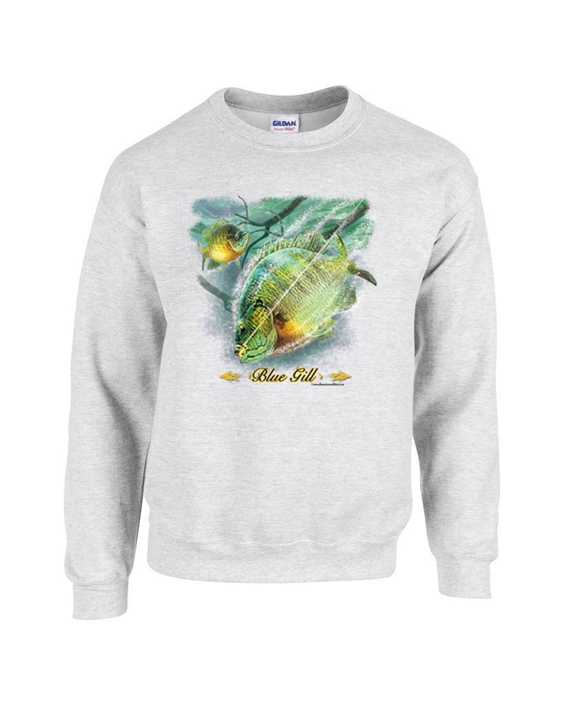 Blue gill fishing bluegill fisherman crewneck sweatshirt for Jawbone fishing shirts