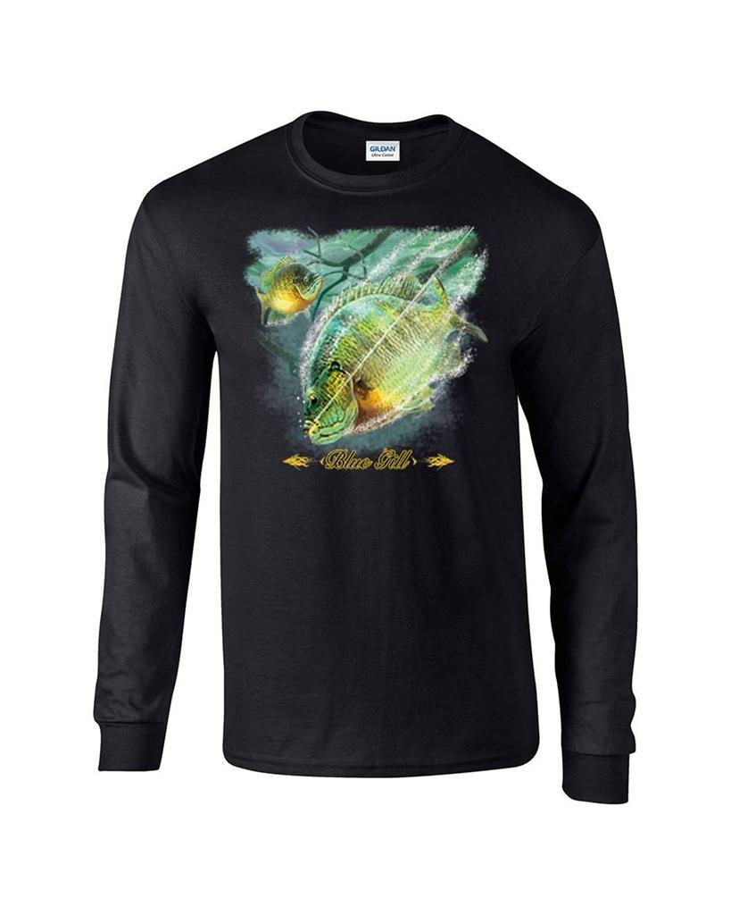 Blue gill fishing fisherman bluegill long sleeve t shirt for Long sleeve fishing t shirts
