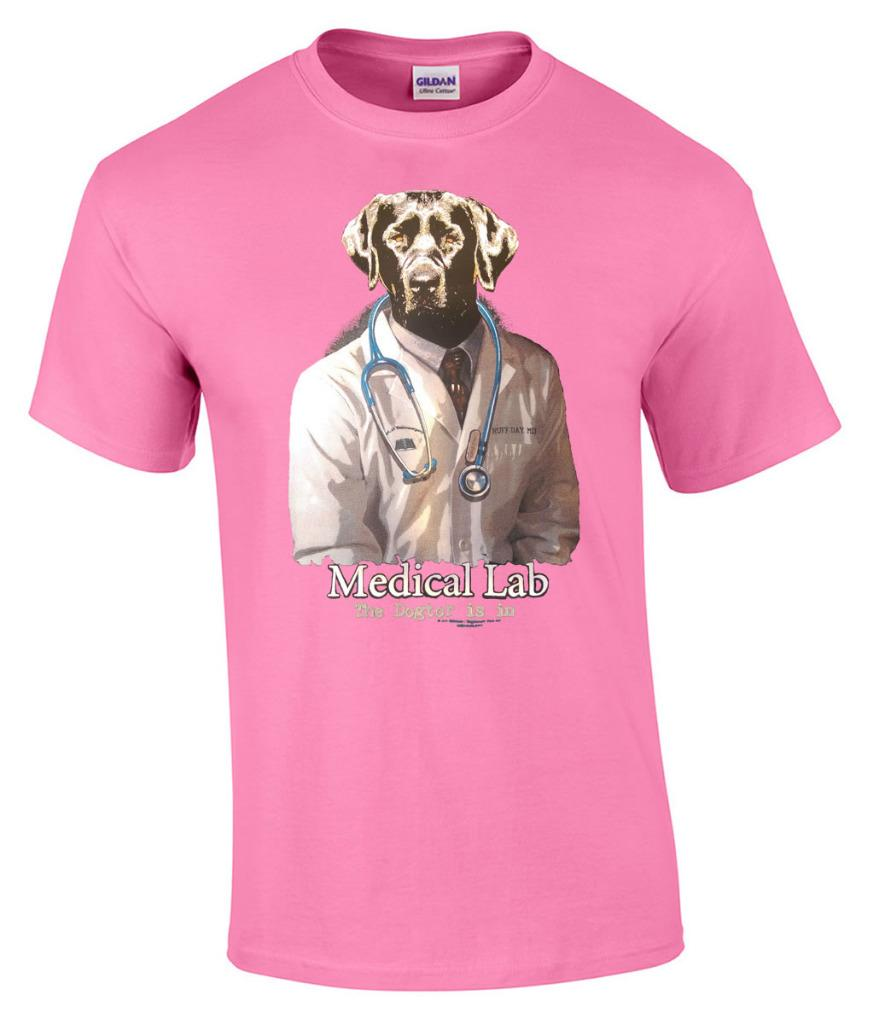 Funny Medical Lab The Dogtor Is In Dog White Coat Dr