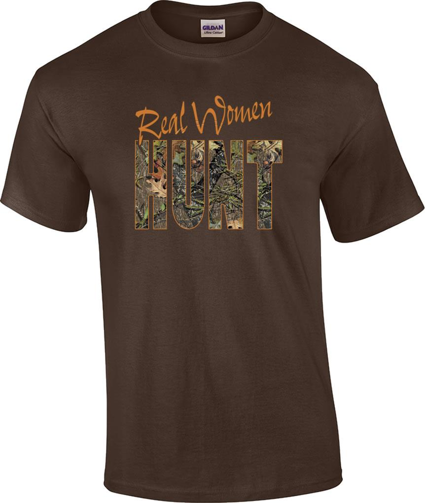 Real Women Hunt Deer Hunting Orange Camo T Shirt Ebay