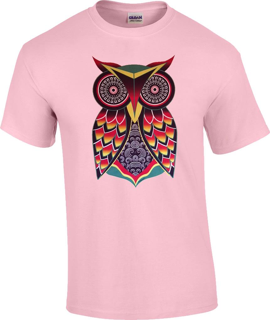 Owl art pastel colored t shirt ebay for Pastel colored men s t shirts
