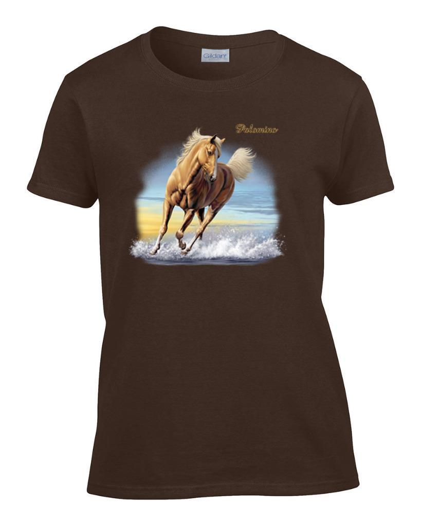 Ladies Beautiful Palomino Horse Women 39 S T Shirt Ebay