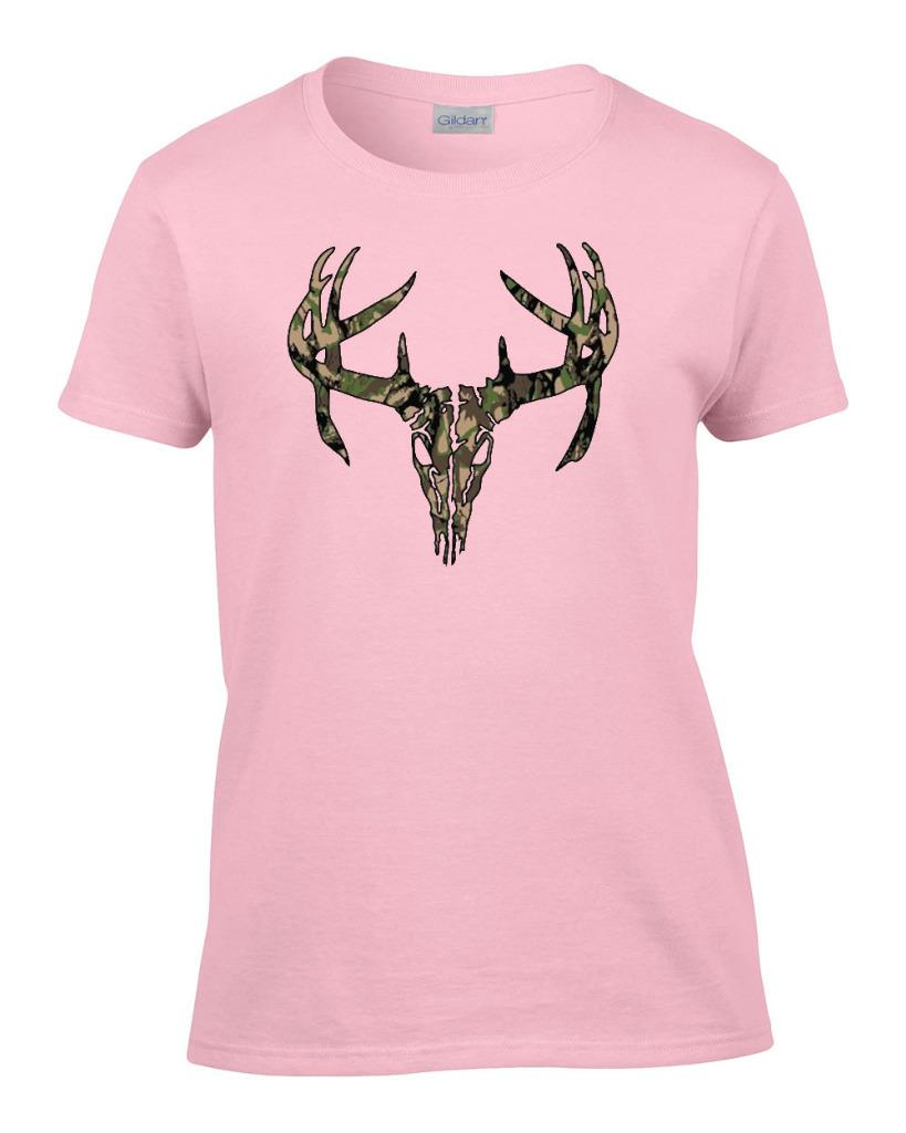Ladies Camo Deer Skull Hunting Women 39 S T Shirt